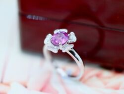 Antique Jewellery Gold Ring Natural Diamonds Pink Sapphire Art Vintage Jewelry