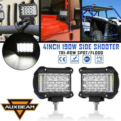 Auxbeam Pair 4 Inch Side Shooter Led Work Light Pods Combo Offroad Driving Lamp