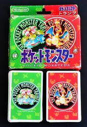 Pokemon Playing Cards Red And Green Nintendo Poker Card 1995 Very Rare Charizard