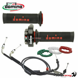 Quickness Throttle Control Xm2 Domino+two Grips+cable For Ducati 848/1098/1198