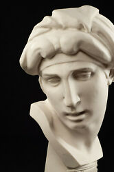 Large Marble Bust Of Aurora After Michelangelo Classical Sculpture. Art Gift.