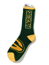 Green Bay Packers Socks Adult Team Color Quarter 1 Pair Size Large