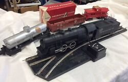 """1956 Gilbert American Flyer """"s"""" Gauge Train Set W/trestle And Boxes See Photos"""