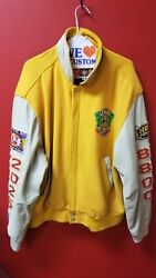 Vintage Real Deal Jeff Hamilton 3 Peat Leather And Wool Lakers Jacket