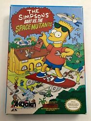 The Simpsons Bart Vs The Space Mutants Rev A Nintendo Nes Game, Manual, And Box