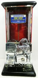 Masters Penny Operated Bulk Dispenser Peanut/candy Machine Circa 1930and039s