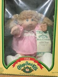 Cabbage Patch Kids | 1984 Vintage Doll | Birth And Adoption Papers | New In Box