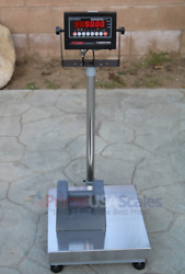 Op-915 Ntep Legal For Trade 20x20 Bench Scale 150 Lb X .1 Lb 2 Yr Warranty