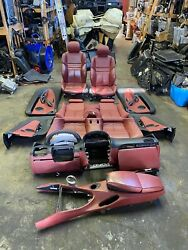 06-10 Bmw E63 M6 Coupe Complete Interior Dash Seats Panels Indianapolis Red