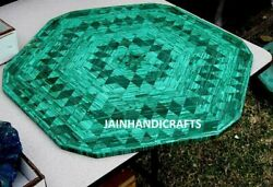 3and039 Green Marble Table Top Coffee Dining Center Inlay Lapis Malachite Z125