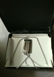 Men#x27;s Sterling Silver Dog Tag Chain New in box