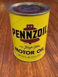Vintage Pennzoil Tough Film Motor Oil Can. 1 Quart. Unopened. Great Condition