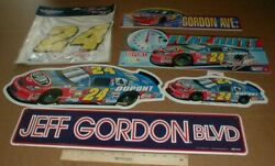 6 Dif Jeff Gordon Nascar Racing New Metal And Plastic Signs Chevrolet Monte Carlo