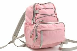 Authentic Prada Nylon Backpack Pink Gray A7709