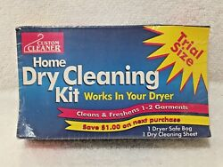 NEW SEALED: CUSTOM CLEANER HOME DRY CLEANING KIT TRIAL SIZE