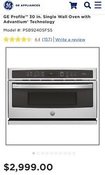 Ge Profile Advantium 30 Stainless Electric Wall Oven Psb9240sfss New Out Of Box