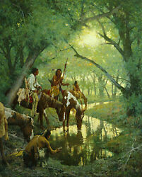 Howard Terpning - Cheyenne At The Disappearing Creek Called White Woman Cvs Mint