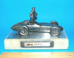 Rick Mears Hand Signed Mike Ricker Pewter Indy Car Sculpture 127/500 1/18 Coa