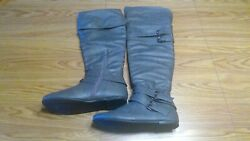 West Blvd Over the Knee Gray Low Heel Boots Size 11 $16.00