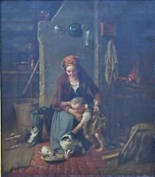 German 19th Century Oil On Canvas Interior Attributed To Hugo Oehmichen
