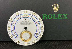 Rolex Men's Yacht-master Ii Blue 44mm White Dial 18k Yellow Gold Oyster 116688