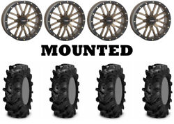 Kit 4 Itp Cryptid Tires 36x10-18 On System 3 St-3 Bronze Wheels Can
