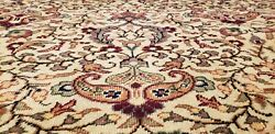 Exquisite Antique 1940's Wool Pile Muted Colors Hereke Area Rug 8'5×11'9
