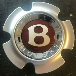 Bentley Continental Center Hubcap Pair For 21 Inch Wheel Ships Free