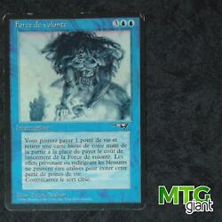 1x Force Of Will - Alliances - French Sun Decoloration Mtg Card