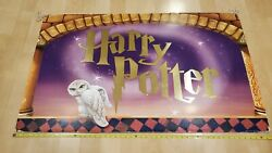 Vintage Harry Potter 2-sided Book Store 4ft Display Retail Sign 2000 Jk Rowling