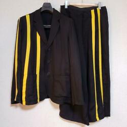 Yohji Yamamoto Pour Homme 16ss Setup Size 2 Black And Yellow From Japan F/s