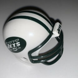 New York Jets Nfl Mighty Racers Mini Football Helmet 2-1/4 Front To Back
