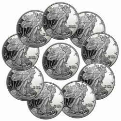 Lot Of 10 Highland Mint Walking Liberty 1oz Silver Round Brilliant Uncirculated