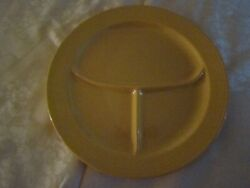 Vintage Fiesta Yellow Grill Compartment Plate Made In U.s.a.
