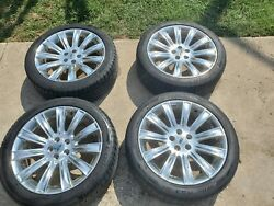 09 10 11 12 Lincoln Mks Mkx Chrome Oem Rims With Tires Used Set Of 4