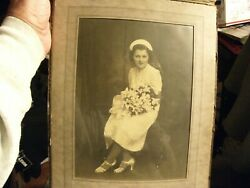 3 Vintage 3 Very Old Photos Including A Wedding Photo Bride And Groom-beautiful