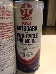 Texaco 50-1 Outboard And Two-cycle Engine Oil Can Six Pack Of Pint Cans.