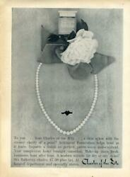 1960 Charles Of The Ritz Print Ad Astringent Foundation Makeup Pearls