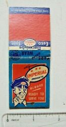 Vintage Imperial Esso Marvelube Matchbook Match Cover Used Empty