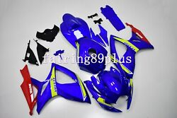 Blue Red Yellow Abs Injection Fairing Fit For 06 07 Gsxr600/750 Full Tank Cover