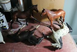 Lot of four Traditional Breyer model horses for CM body shelf or play