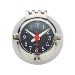 Vintage Style Silver Black Round Wall Clock Retro Industrial Navy Depth Charge