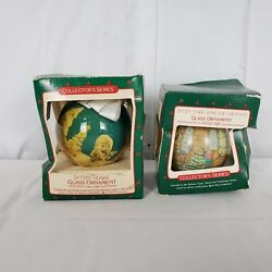 Betsy Clark Collectorand039s Series Lot Of 2 Ornaments 1985 1987 Glass C4