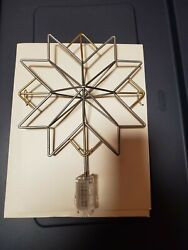 Hearth and Hand with Magnolia Gold and Silver Tree Topper Star with Clip $13.99