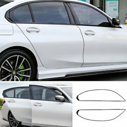 For Bmw 3-series 2019-2021 G20 Abs Black Windows Strip Sill Molding Cover Trim