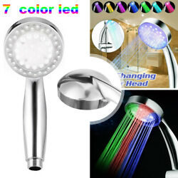 Colorful Head Home Bathroom 7 Colors Changing Led Shower Water Glow Light Us