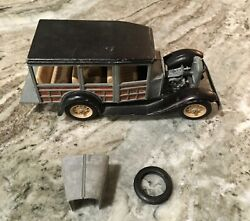 Hubley Toy Car 845-5k Ford Panel Truck Metal 1950and039s Vintage Rare Original