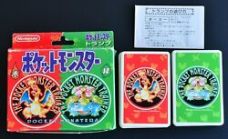 Pokemon Playing Cards Red And Green Nintendo Poker Card 1995 Very Rare Charizard ③