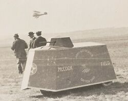 Antique Mccook Field Tank Biplane Dayton Oh Army Air Service Corps History Photo
