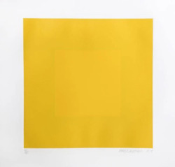 Richard Anuszkiewicz Spring Suite Yellow With Yellow Intaglio Etching With A